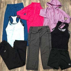 8-pc Lot of Athletic Wear Tops & Bottoms -Medium